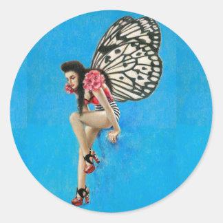 Kitsch Vintage Rockabilly Fairy Sticker