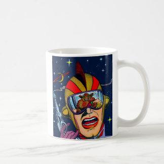 Kitsch Vintage Sci-Fi Space Ranger Shooter Coffee Mugs