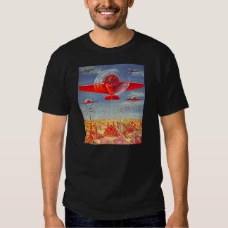 Kitsch Vintage Soviet Propoganda Planes in Moscow Tee Shirt