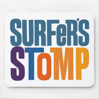 Kitsch Vintage Surf Rock 'Surfers Stomp' Mouse Pad