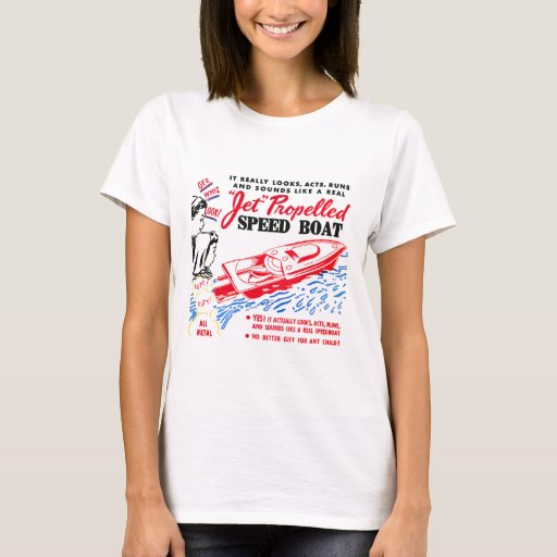Kitsch Vintage Toy Ad 'Jet Propelled Speed Boat' T-Shirt