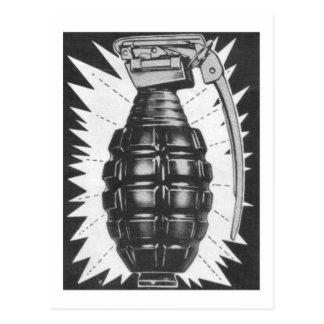 Kitsch Vintage Toy Hand Grenade Ad Art Postcard