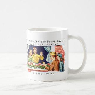 Kitsch Vintage We Missed You Sunday School Coffee Mug