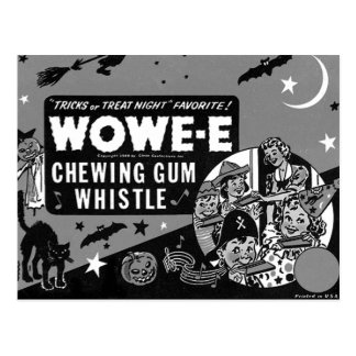 Kitsch Vintage Wowee Wax Gum Halloween Postcard