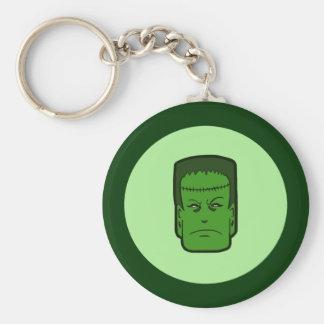 Kitschy Frankenstein Basic Round Button Keychain