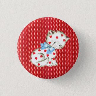 Kitschy Kitty 1 Inch Round Button