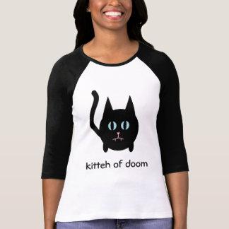 Kitteh of doom black gothic cat t shirt