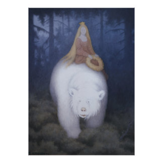 Kittelsen King Valemon The white bear CC0818 XL Poster