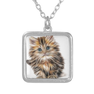 kitten-1582384_640 silver plated necklace
