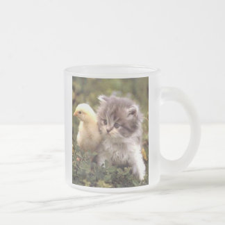 Kitten and Baby Chick Mug