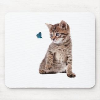 Kitten and Butterfly image for Mouse-pad Mouse Pad