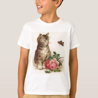 Kitten and Butterfly T-Shirt