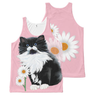 Kitten and Daisy All-Over-Print Tank Top