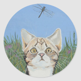 Kitten and Dragonfly stickers