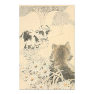 Kitten and the Cow Stationery