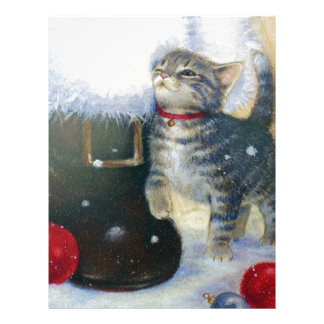 Kitten at Santa's Boot Personalized Letterhead
