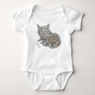Kitten babygrow baby bodysuit