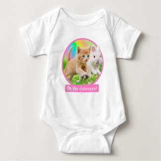Kitten & Bunny with Rainbow Baby Bodysuit