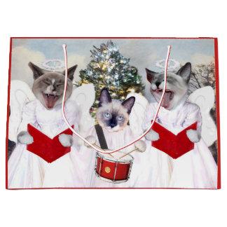 Kitten Carol Christmas Gift Bag