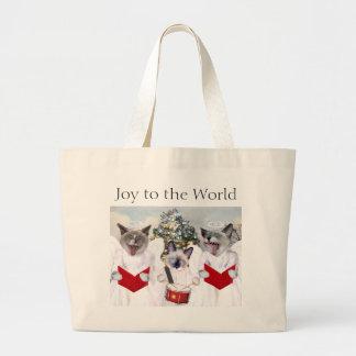 Kitten Carol Christmas Tote