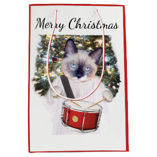Kitten Carol Holiday Medium Gift Bag