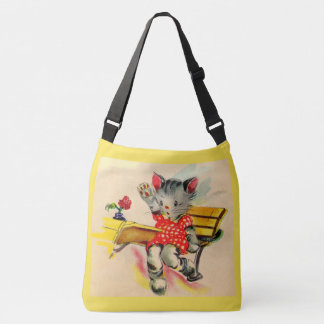 kitten cat student crossbody bag