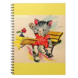 kitten cat student notebook