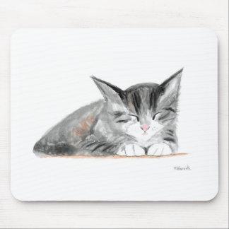Kitten Cat watercolour Mouse Pad