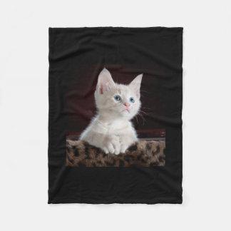 Kitten Cute Pet Face Eyes Kitty Cat Faith Fleece Blanket