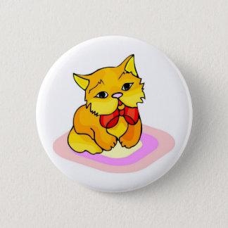 Kitten Drawing 2 Inch Round Button