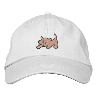 Kitten Embroidery Gift Embroidered Hat