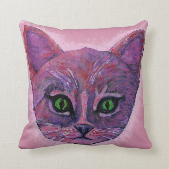 Kitten Face/Cat Face Throw Pillow