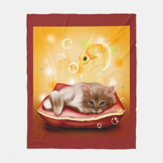 Kitten Fleece Blanket