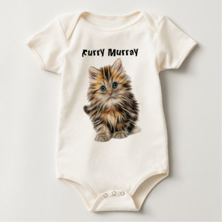 Kitten Furry Murray So Cute and Hairy Baby Bodysuit