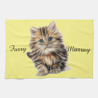 Kitten Furry Murray So Cute and Hairy Kitchen Towel