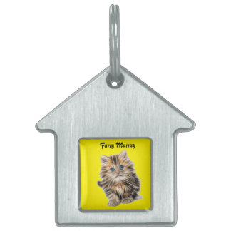 Kitten Furry Murray So Cute and Hairy Pet Tag