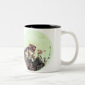kitten honeydew Two-Tone coffee mug