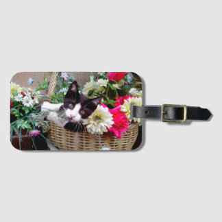 Kitten in a Basket Luggage Tag