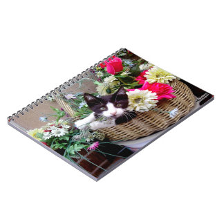 Kitten in a Basket Spiral Notebook