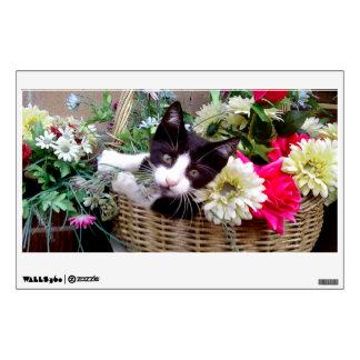 Kitten in a Basket Wall Decal