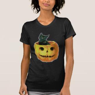 Kitten in a Pumpkin T-shirt