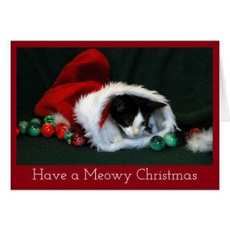 Kitten in Christmas Stocking Card