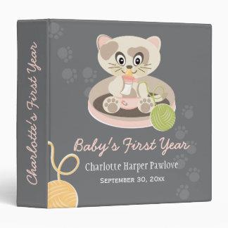 Kitten In Pink Diaper Cat Baby Photo Album Binders