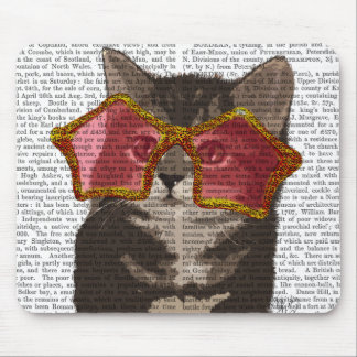 Kitten in Star Sunglasses Mouse Pad