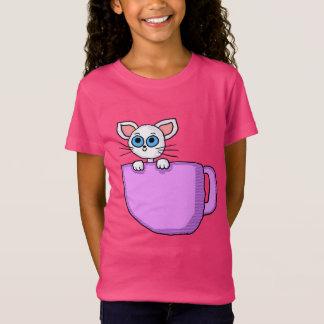 Kitten in Tea Cup Shirt