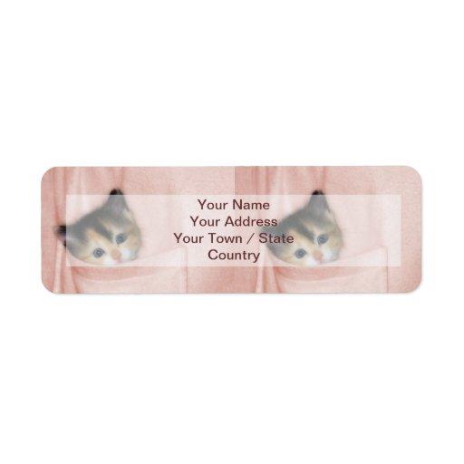 Kitten in the Pocket 2 Return Address Labels