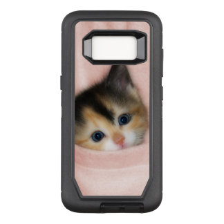 Kitten in the Pocket 2 OtterBox Defender Samsung Galaxy S8 Case