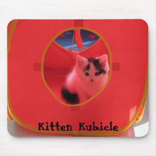 Kitten Kubicle Mouse Pad