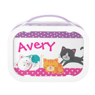 Kitten Lunch box, Girls School Lunch box