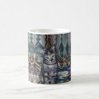 Kitten Matrix 50 Shades of Grey Classic White Coffee Mug
